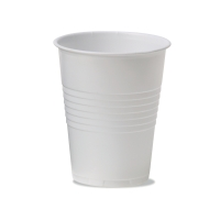 Wegwerp drinkbekers uit plastic 18 cl wit - pak van 3000