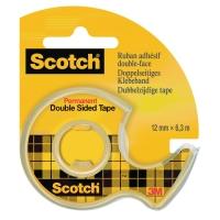 Scotch 136D dubbelzijdige plakband 12mmx6.3m