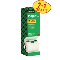 Scotch Magic 810 onzichtbaar plakband 19mmx33 m - value pack 7 + 1 gratis