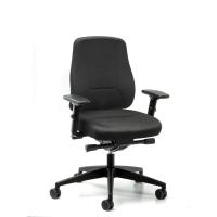 Younico Pro 2406 bureaustoel met synchroon contact - zwart