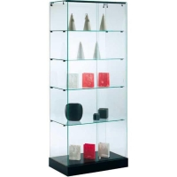 Vitrinekast glas 185x70x40cm