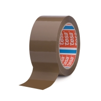 Tesa 4280 PP verpakkingstape 50 mm x 66 m bruin - pak van 6