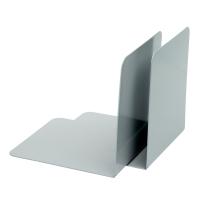 Alco boekensteun 13 x 14 cm grijs - pak van 2