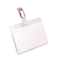 Durable 8106 congresspeld/badge met clip 90x60mm - pak van 25