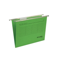 Atlanta Alzicht hangmappen A4 versterkte bodem 30mm groen - pak van 25