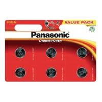 Panasonic lithium cr-2032/6bp batterij- pak van 6