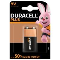 Duracell Plus Power alkaline 9V-batterijen, verpakking van 1