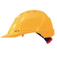 M-Safe MH6020 ABS helm geel met draaiknopinstelling