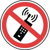 Pictogram gebruik van draagbare telefoon verboden vinyl Ø200mm
