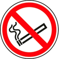 Pictogram verboden te roken polypropyleen Ø200mm