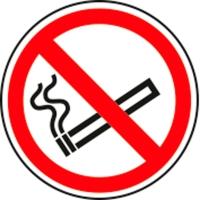 Pictogram verboden te roken vinyl Ø90mm