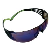 3M secufit SF408AF veiligheidsbril - blauwe spiegelende lens