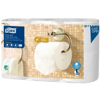 Tork Premium extra soft toiletpapier op rol 3-laags - pak van 6