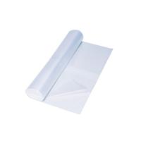 Vuilniszak 20 micron HDPE 80x100cm transparant - rol van 50
