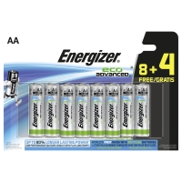Energizer Eco Advanced alkaline batterijen AA - pack van 8+4 gratis
