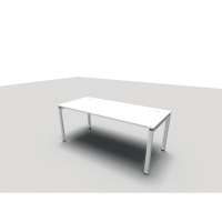 Conect bureau 80x180 cm Frame poten wit