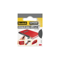 Scotch Supreme Strong & Easy boektape 19 mm x 3 m - grijs