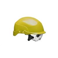 Centurion Spectrum geventileerde helm + geïntegreerde bril - geel