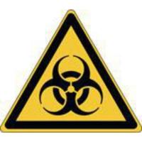 Brady zelfklevend picto W009 Biologisch besmettingsgevaar 100x87 mm - pak van 3