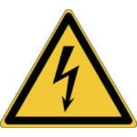 Brady zelfklevend picto W012 Elektrische spanning 100x87 mm - pak van 3