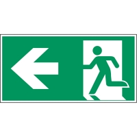 Brady zelfklevend pictogram A270/E001 nooduitgang linkse pijl 210x105mm