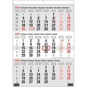 Lyreco driemaandskalender 30x43cm