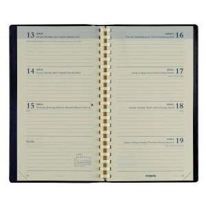 Brepols Interplan 736 pocketagenda vulling spiraal