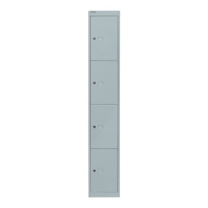 Bisley office locker with 4 compartments white