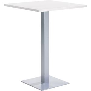 Square breakroom table 80 x 105 cm white