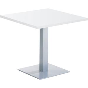Square breakroom table 80 x 73,5 cm white
