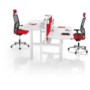 Easy Up gedeeld onderstel bureau 160 x 80 cm wit