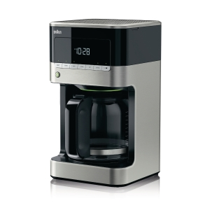 Braun Puraroma 7 KF7120 coffee machine inox with timer black
