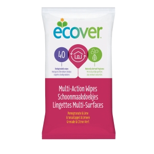 ECOVER MULTI-ACTION POMEGRANATE&LIME WET WIPES