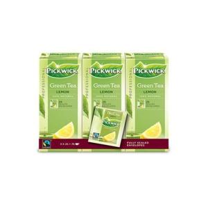 Pickwick groene thee citroen Fairtrade - doos van 3 x 25