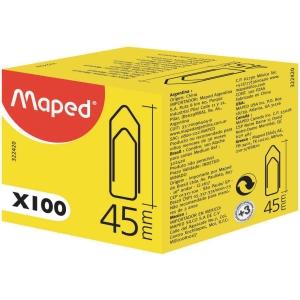 Paperclips nikkel punt 45mm - doos van 100