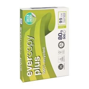 Evercopy Plus recycled paper A4 80g - 1 box = 5 reams of 500 sheets