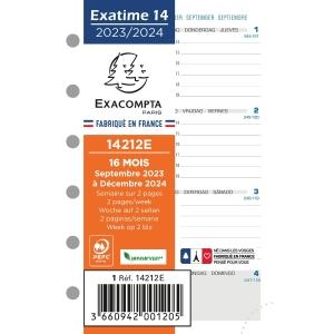 Exatime 14 vulling voor organiser 7dagen/2 pagina s horizontaal