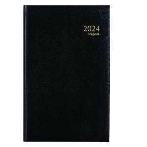 Brepols Saturnus Basic 015 desk diary with Lima cover black