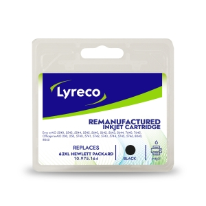 Lyreco compatible HP C2P05AE inkjet cartridge nr.62XL zwart [600 pagina s]