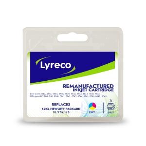 Lyreco compatibele HP 62XL (C2P07AE) inkt cartridge, cyaan, magenta, geel