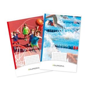 Aurora geniet notitieboekje 125x195mm geruit 5x5mm 40 vellen