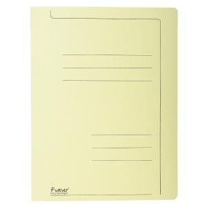 Exacompta snelhechtmappen A4 karton 275g geel - pak van 10