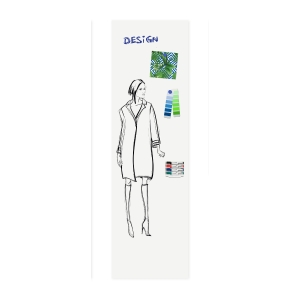 Legamaster Wall-Up whiteboard paneel 60 x 200cm portret