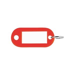 Sleutelhangers kunststof rood - pak van 100