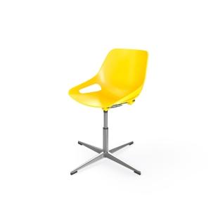 EOL Rosalie stoel met conferentieonderstel geel
