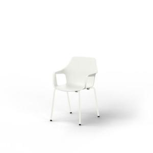Eol Gelati stoel met armleuningen, wit, kunststof, per 4 stoelen