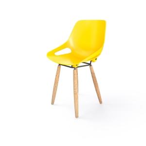 EOL Rosalie stoel met houten poten geel
