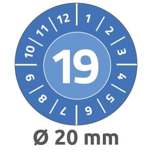 Avery 6945 keuringszegels, blauw, 20 mm diameter, doos van 960
