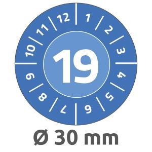 Avery 6946 keuringszegels, blauw, 30 mm diameter, doos van 800