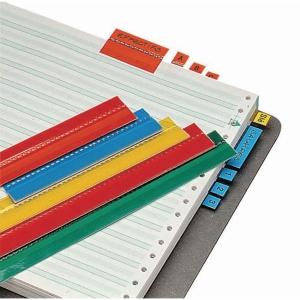 Esselte inlegbladen voor hangmappen zelfklevende strooketiketten - pak van 5